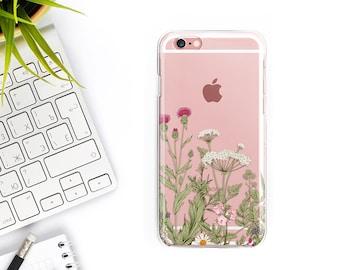 iPhone 7 Case Clear Botanic iPhone 7 Plus Case iPhone 6S Case iPhone 6 Case iPhone 6 plus case iPhone 6s Plus Case Samsung Galaxy S7 Case