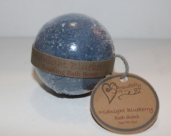 Midnight Blueberry Bubbling Bath Bomb