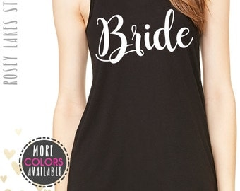 bride,bridal party,bridesmaid,bachelorette,bride tank top,racerback,tank,ladies,gifts,tops,tee,brides,wedding,weddings,wedding apparel