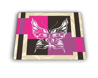 Abstract Butterfly Computer Mouse Pad Home and Office Size Mousepad