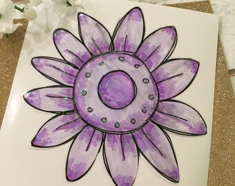 Daisy decal, Watercolor decal, Daisy watercolor decal, Flower Yeti decal, Yeti decal for women