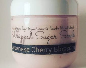 Whipped Sugar Scrub - Japanese Cherry Blossom (6 oz Jar)