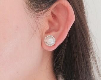 Pearl Earrings / Silver Earrings / Gold Earrings, silver earrings, stud earrings ,post back earrings ,wedding earrings ,bride  earrings ,