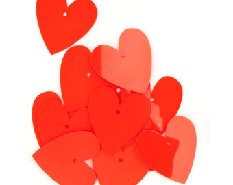 Neon Red Perspex Heart Kit (12)