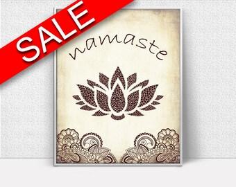 Wall Art Namaste Digital Print Namaste Poster Art Namaste Wall Art Print Namaste Spiritual Art Namaste Spiritual Print Namaste Wall Decor