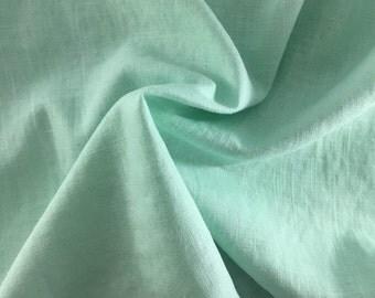 Linen fabric, uni, mint 7216