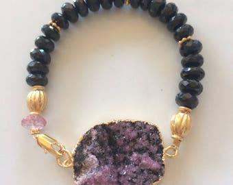 Black spinel bracelet