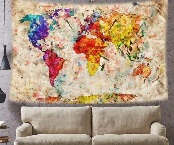 Tapisserie murale tissu 28 images d 233 cor mural en for Decoration murale voyage