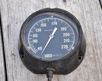 Vintage Temperature Gauge, SARCO NYC