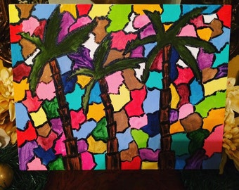 Mosaic Palm Trees