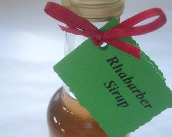 Rhubarb syrup for rhubarb Sprizz