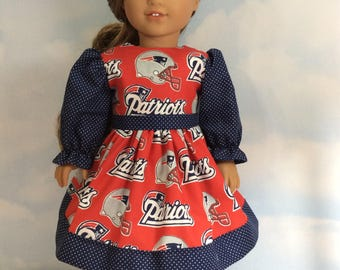"Football fan dress for 18"" dolls"