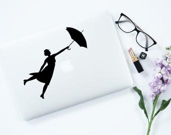 Poppins Laptop Decal Mary Poppins Decal Macbook Decal Laptop Decal Vinyl Decal Laptop Decal Laptop Sticker Laptop Decal Macbook Decal 087