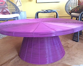 Fucshia Wire Table