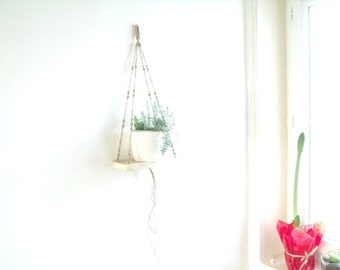 Swing swing hanging in Macrame weaving Scandinavian shelf