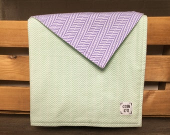 RAFTERS BICOLORES / / flannel double thickness baby blanket