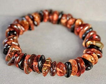 Natural Authentic High Grade Baltic Amber Beaded Bracelet fb916