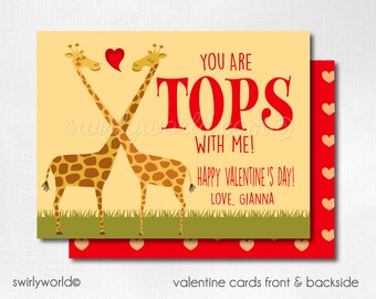 Giraffe Valentine Cards, Digital Printable Giraffe Valentine Cards, Digital Giraffe Valentine Cards, Digital Giraffe Valentine DIVAL106