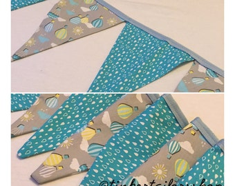 Bunting, Fabric Flags, Nursey Decor