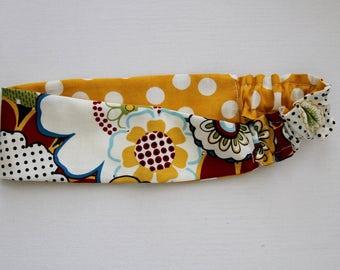 Women's multi color reversible headband