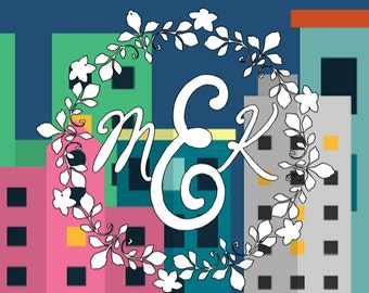 Monogram Outdoor Glossy Decal Custom Initials For Car Window or Laptop Decal, floral border, 5.5in round