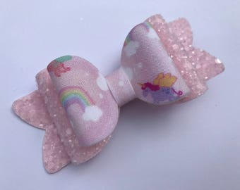 Pink Magical wish hair bow
