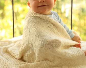 cozy BABY blanket from baby Merino Wool