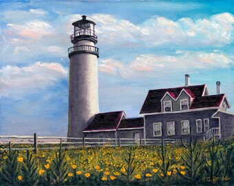 Cape Cod Lighthouse, Signed, Fine Art Print, Home Decor