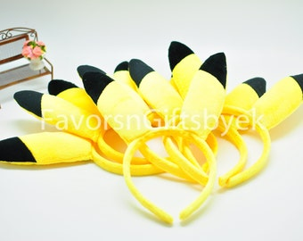 10 Pikachu Pokemon Headbands Cosplay Pokeball Party Favors Pokemon Go Pokemon Headband Pikachu Ears Headband Party Supplies