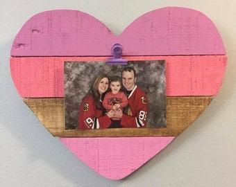 Decorative Heart Photo Frame Holder Valentine's Day