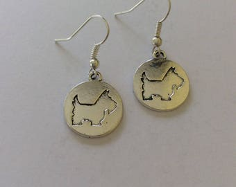 Dog earrings / dog jewellery / dog lover gift / dog gift / animal earrings / animal jewellery / animal lover gift