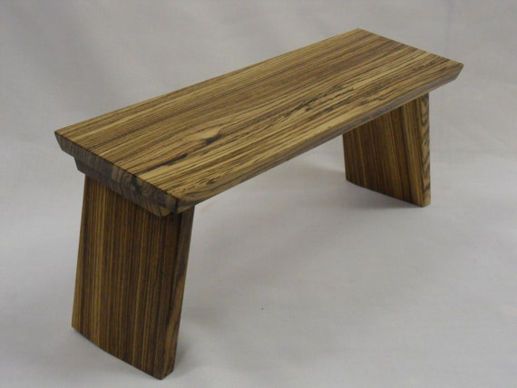 Folding Meditation Bench Zebrano