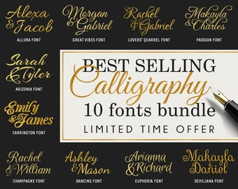 Calligraphy Font Svg Cursive Fonts Svg Monogram Fonts Bundle Svg Cut Files Svg Script Monogram Svg Invitation font Svg Cricut Dxf Silhouette