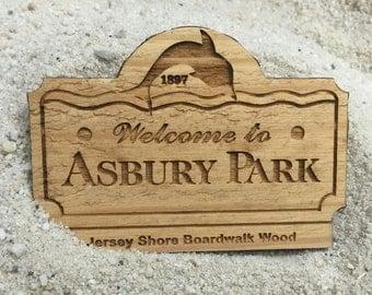 Asbury Park Boardwalk Wood Magnet