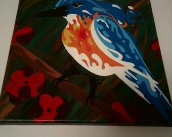 Bird, Acrylic on canvas