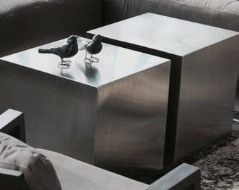 square stainless steel table