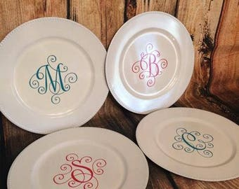 Personalized Charger Plate