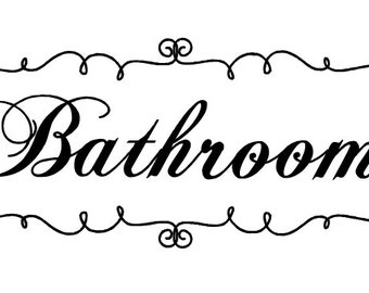 Bathroom Wall Decal 11x5