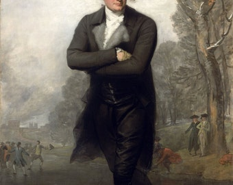 Gilbert Stuart : The Skater (1782) Canvas Gallery Wrapped Wall Art Print