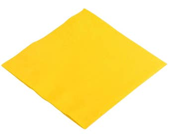 50-100 Bright Yellow Beverage Disposable Napkin, Wedding Napkins, Beverage Napkins, Wedding, Party, Wedding Supplies, Party Supplies