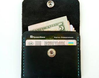 Wallet men's, minimalist bifold wallet, slim bifold wallet, leather wallet