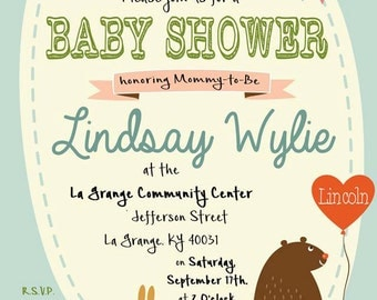 Forest Animal Baby Shower Invitation