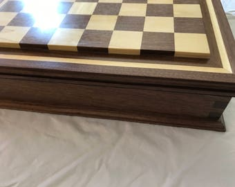Chess Board with box to hold chessmen