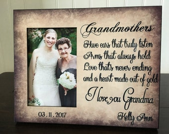 grandma picture frame gift for wedding wedding gift for grandmother from bride gift for nana mothers day gift 6x4 picture frame