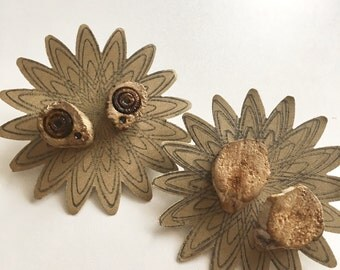 Driftwood earring set