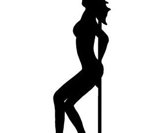 Exotic Dancer Silhouette Clip Art