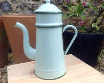 Enamel Coffee Pot, French vintage enamelware, kitchenallia, french cuisine