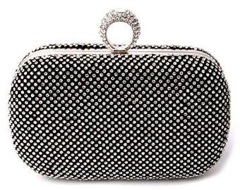 Evening clutch, Evening Purse,Prom clutch, Bridal clutch, Wedding clutch, Party clutch, Evening bag, Clutches,Clutch,Black clutch, bag, bags