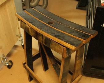 Handcrafted Barrel Stave Bar Stool