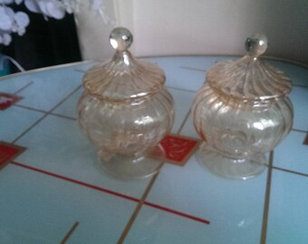 Pair of Beautiful Glass Jars